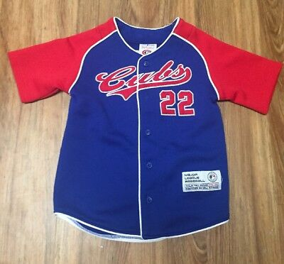 6bb41010 CHICAGO CUBS MLB Baseball Shirt Jersey - Size Youth L 12-14 True Fan ...