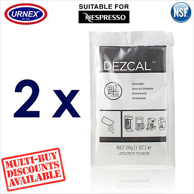 2 x Urnex Descaler 28g Descaling Powder for Nespresso Espresso Coffee Machine
