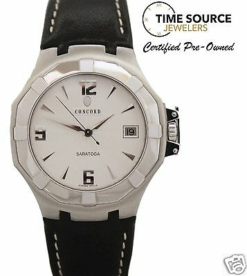 Concord Saratoga Stainless Steel Quartz 38mm Box & Papers 14.C2.1894 Watch