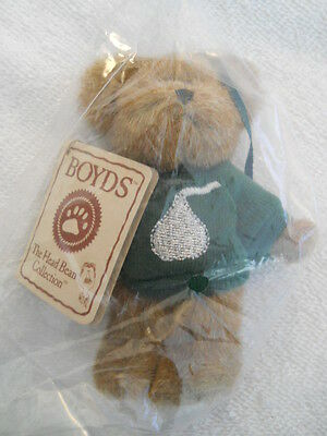 "RETIRED  Rare Boyds Bear ""Merry Kisses"" Hershey  4"" Bear Ornament  94220HE NWT"