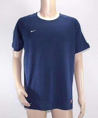Nike Dry-fit *Men`s Size Large* Navy Blue Soccer Training Jersey 100%Polyester
