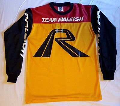 Team Raleigh BMX Race Jersey. New. NOS. 80's Old School.Vintage