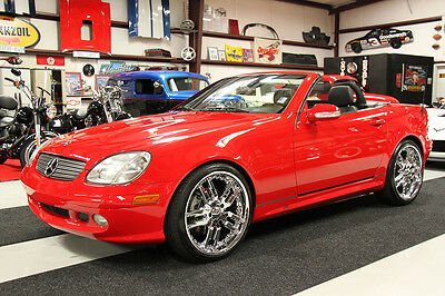 2001 Mercedes-Benz SLK-Class SLK 320 ROADSTER HARD TOP WOOD WHEEL GIOVANNAS 53K MILES, CLEAN CARFAX, GIOVANNA WHEELS TAN INTERIOR, WOOD WHEEL & SHIFT KNOB