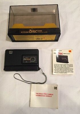 Vintage Kodak Disc 6000 Camera Outfit Display Box Set Free Shipping!
