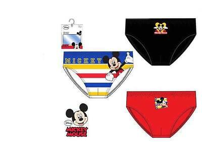 Box 3 Panties Girls MICKEY MOUSE 100% Cotton Colors Assorted HQ3085