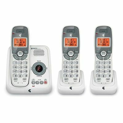 Telstra 12250 DECT Cordless Phone 3 Pack with Answering Machine