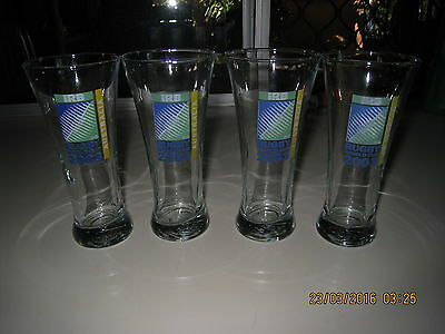 Rugby World Cup Australia 2003 Beer Glasses Brand New X 4