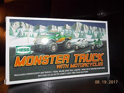 2007 Hess Monster Truck with Motorcycles - New in box (Mint Condition)