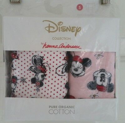 Nwt Hanna Andersson Organic Training Unders Minnie Mouse Disney S 100 110 3T 4 5