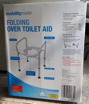 Over toilet seat and frame