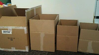 60 x CARDBOARD MOVING PACKING AND STORAGE BOXES. USED.