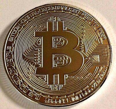 BITCOINS, (last 4 left)!!!!! NEW SILVER PLATED BITCOIN COLLECTIBLE BITCOIN COIN