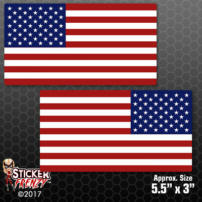 American US Car Truck Bumper Vinyl Decal #FS2044 REFLECTIVE USA Flag Sticker