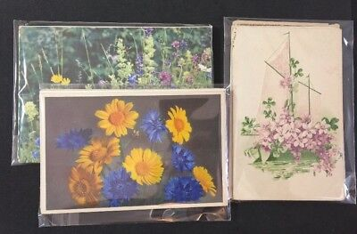 Vintage Postcards: 10 Birthday Greeting Cards : Multi Pack Job Lot