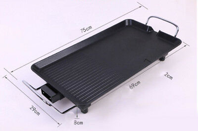 10 Person Korean Style Multifunction Household Indoor Electric Grill Plate BBQ *