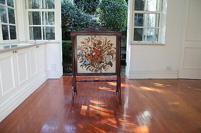 antique australian firescreen