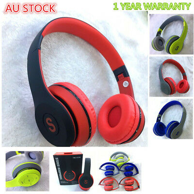 Kids Bluetooth Wireless Headphone With Mic FM for Cellphone Laptop  iPad AIR