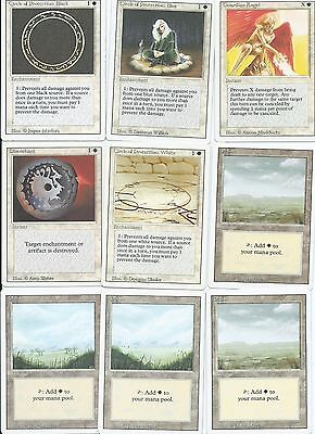 Magic the Gathering Revised Edition common whites and land pack 1
