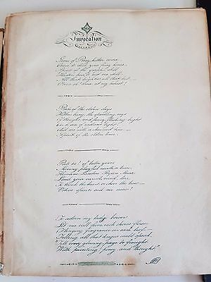 Album of poems and hand drawn pictures c1832