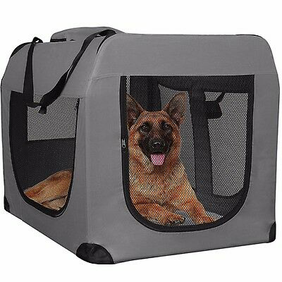 Dog Crate Soft Sided Pet Carrier Foldable Training Kennel Portab 2