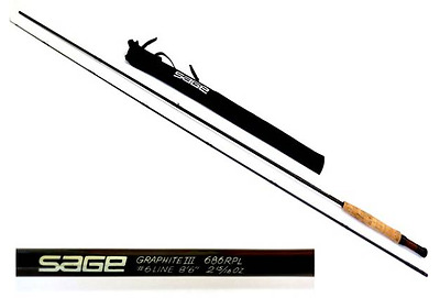 Sage RPL 686 6 weight,  2 piece fly rod