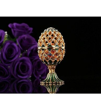 Russia Style Faberge Egg Ornaments Miniatures Home Decoration Crafts
