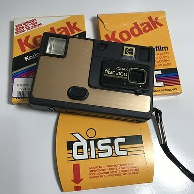 Retro - 1980S Kodak Disc 3100 - Film Camera + Film Discs. Free Post