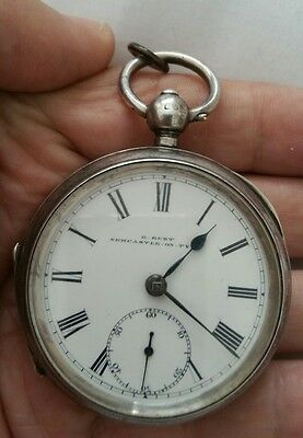 Antique pocket watch solid sterling silver