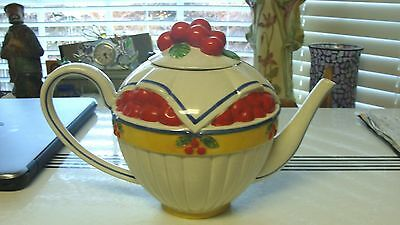 Department Dept 56 Life Is Just A Bowl Of Cherries Teapot 76 Oz Red Cherries