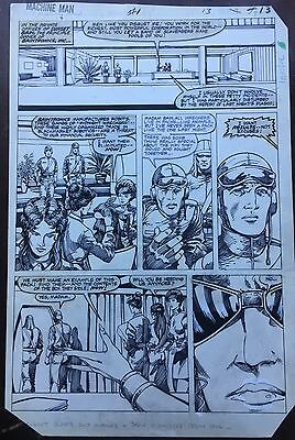 Machine Man Original Art Windsor-Smith Trimpe Marvel Issue 1 Page 13