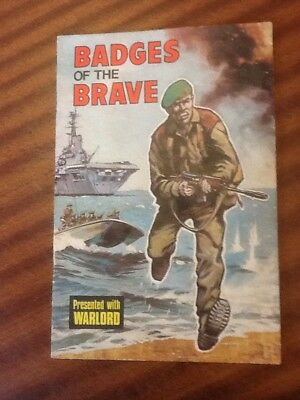 Badges Of The Brave Presented With Warload D C Thomson 1975 Complete With Badges