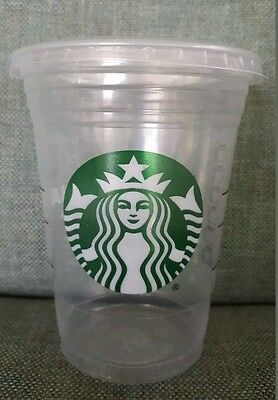50 Starbucks Disposable Grande Cold Cups 16 Ounce with Flat Lids Party!
