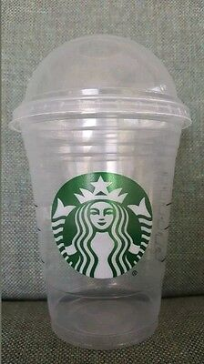 50 Starbucks Disposable Grande Cold Cups 16 Ounce with Dome Lids Party!