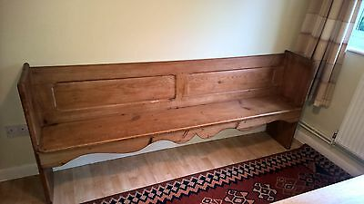 "Antique pew stripped pine, 6'10"" long"