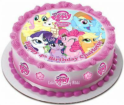 Precut Icing My Little Pony Personalised 15cm Cake Topper 17 Extra