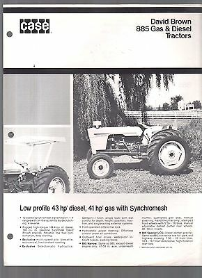 Vintage  David Brown 885 Gas Diesel Tractor Sales Brochure