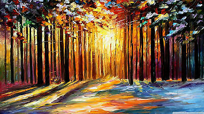 Oil Painting/Couple in the park Wall Art CANVAS HD 20x30""