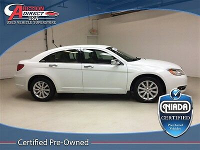 2014 Chrysler 200 Series Limited NIADA Certified Pre-Owned 2014 Chrysler 200 Bright White Clearcoat Limited 3.6L