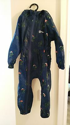 hi gear baby waterproof all in one 12-18 month   cute design with frogs blue