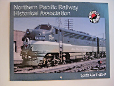 Nos Vintage 2002 Northern Pacific Railway Railroad Advertising Calendar ~ Trains