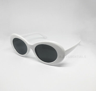 Kurt Cobain clout goggles oval sunglasses - white