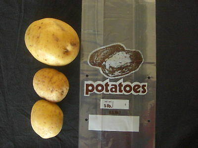 Clear Vented 5 LB.Potato bag 2000 count