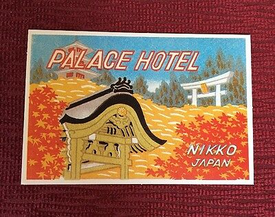 Repro of Vintage Luggage Sticker Label Tag Palace Hotel Nikko Japan