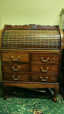 antique style roll top bureau