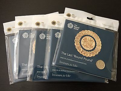 2016 UK Great Britain The Last Round Pound £1 Official Royal Mint Pack