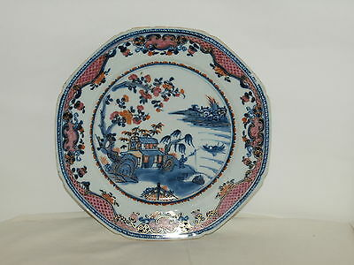 C18th  CHINESE EXPORT WARE POLYCHROME PORCELAIN PLATE