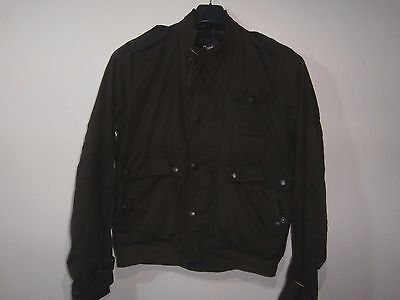 barbour ford army jacket waxed cotton  green 100%authentic M