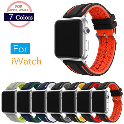 New Silicone iWatch band Bracelet Strap Fr 38mm/42mm Apple Watch Band Series 1&2