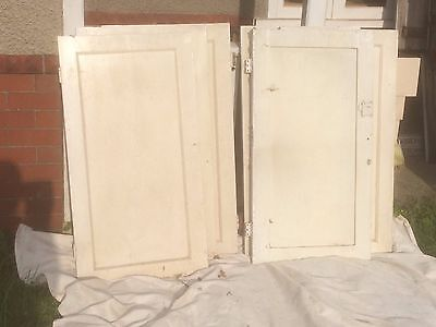 16 vintage solid wood cupboard doors