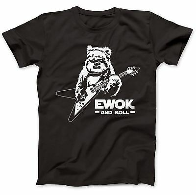 Ewok And Roll Guitar Funny T-Shirt 100% Premium Cotton Gift Present Star